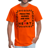 Pediatric Nurses Are Kids At Heart -Men's T-Shirt - orange