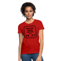 Pediatric Nurses Are Kids At Heart - Women's T-Shirt - red