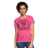 Pediatric Nurses Are Kids At Heart - Women's T-Shirt - heather pink