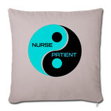 "Nurse - Patient- Yin -Yang - Throw Pillow Cover 17.5"" x 17.5"" - light taupe"
