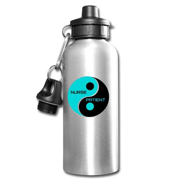 Yin Yang Water Bottle - silver