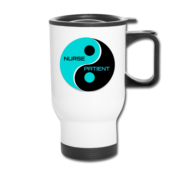 Yin Yang Travel Mug - white