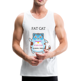 Fat Cat Men's Premium Tank - white