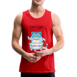 Fat Cat Men's Premium Tank - red