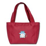 Fat Cat lunch bag - red