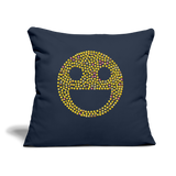 "Emoji Throw Pillow Cover 18"" x 18"" - navy"