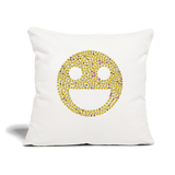 "Emoji Throw Pillow Cover 18"" x 18"" - natural white"