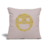 "Emoji Throw Pillow Cover 18"" x 18"" - light taupe"