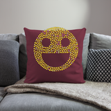 "Emoji Throw Pillow Cover 18"" x 18"" - burgundy"
