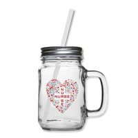 Medical Caduceus Mason Jar - clear