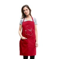 Stethoscope Adjustable Apron - red
