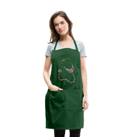 Stethoscope Adjustable Apron - forest green