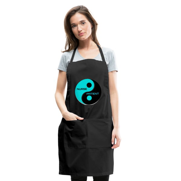 Yin Yang Adjustable Apron - black