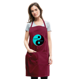 Yin Yang Adjustable Apron - burgundy