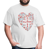Nurse Heart Men's Classic T-Shirt - white