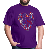 Nurse Heart Men's Classic T-Shirt - purple