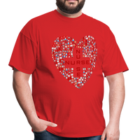 Nurse Heart Men's Classic T-Shirt - red