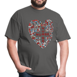 Nurse Heart Men's Classic T-Shirt - charcoal