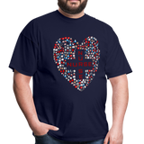 Nurse Heart Men's Classic T-Shirt - navy