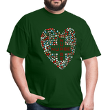 Nurse Heart Men's Classic T-Shirt - forest green