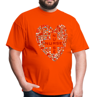 Nurse Heart Men's Classic T-Shirt - orange