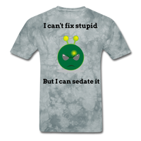 Can't Fix Stupid Unisex Classic T-Shirt - grey tie dye