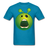 Screaming Alien Unisex Classic T-Shirt - turquoise