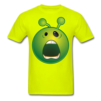 Screaming Alien Unisex Classic T-Shirt - safety green
