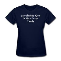 Stay Healthy Women's T-Shirt - navy