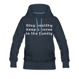 Stay Healthy Women's Premium Hoodie - navy