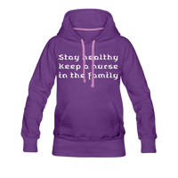 Stay Healthy Women's Premium Hoodie - purple