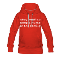 Stay Healthy Women's Premium Hoodie - red