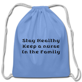 Cotton Drawstring Bag - carolina blue