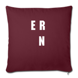 "Throw Pillow Cover 18"" x 18"" - burgundy"