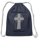 Bikers Cotton Drawstring Bag - navy