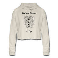 God and Nurses Women's Cropped Hoodie - dust