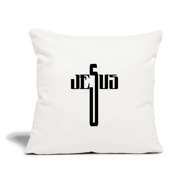 "Jesus Throw Pillow Cover 18"" x 18"" - natural white"