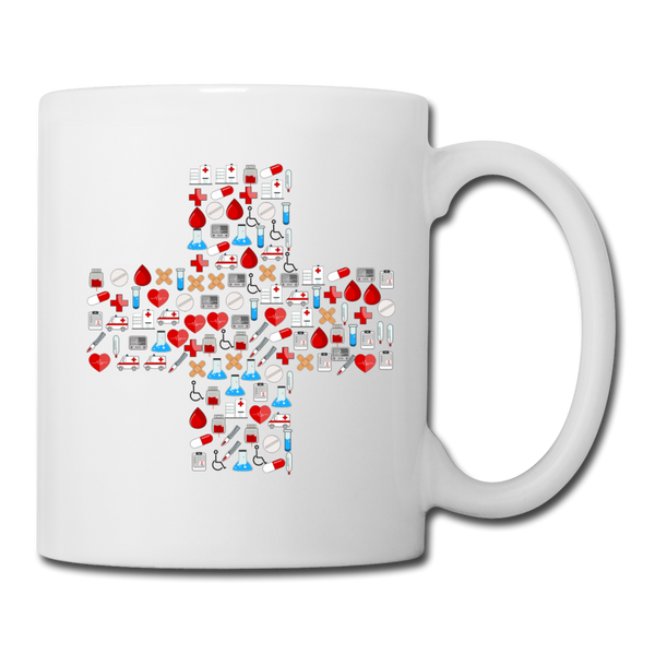 Mosaic Cross Coffee/Tea Mug - white