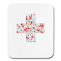 Mosaic Cross Mouse pad Vertical - white