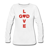 God Women's Premium Long Sleeve T-Shirt - white