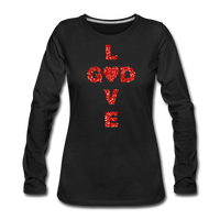 God Women's Premium Long Sleeve T-Shirt - black