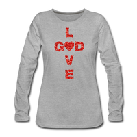 God Women's Premium Long Sleeve T-Shirt - heather gray