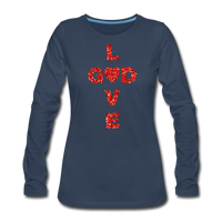 God Women's Premium Long Sleeve T-Shirt - navy
