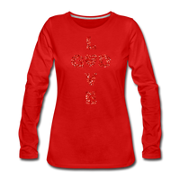 God Women's Premium Long Sleeve T-Shirt - red