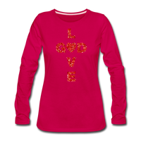 God Women's Premium Long Sleeve T-Shirt - dark pink