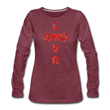 God Women's Premium Long Sleeve T-Shirt - heather burgundy
