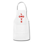 God Adjustable Apron - white