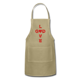 God Adjustable Apron - khaki