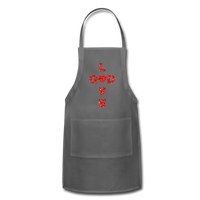 God Adjustable Apron - charcoal