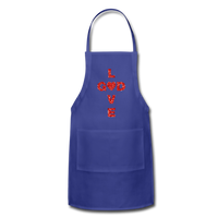 God Adjustable Apron - royal blue